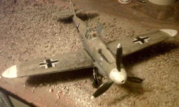 weathered Messerschmitt BF 109