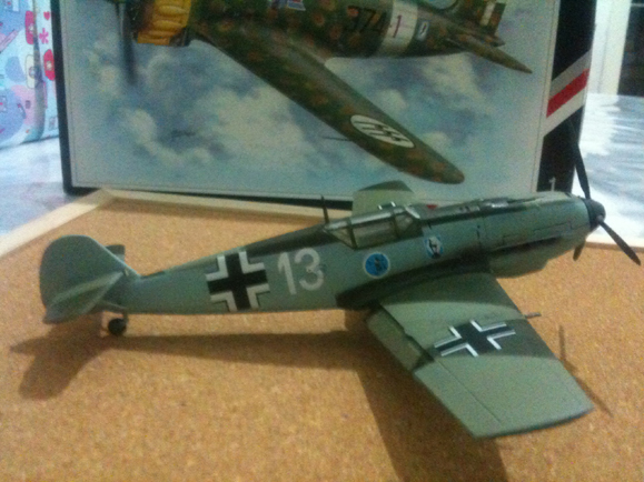 1/48 Academy Bf-109e Heinz Bar aircraft white 13