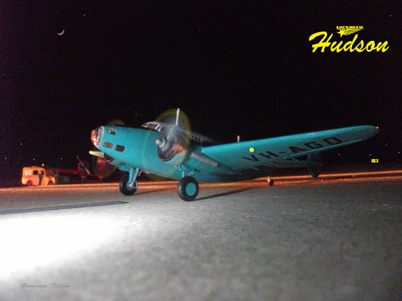 Airfix Hudson night airfield diorama