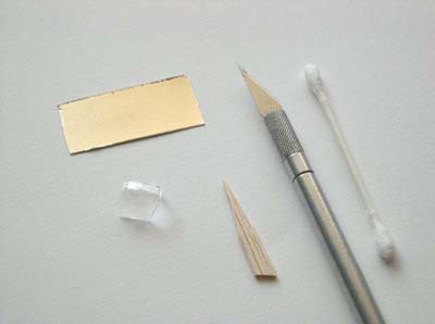 tools and materials for applying Bare Metal Foil