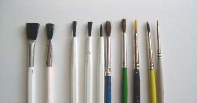 paintbrushes for model airplanes
