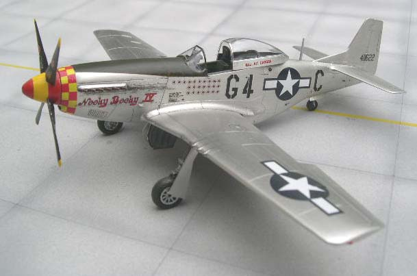 Mustang model covered in bare metal foil